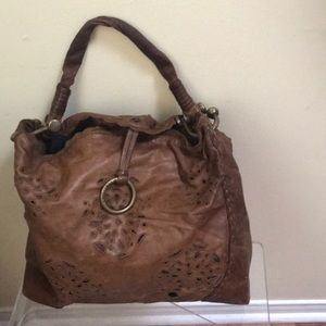 BCBGMaxAzria Hobo Shoulder Bag Laser Cut leather